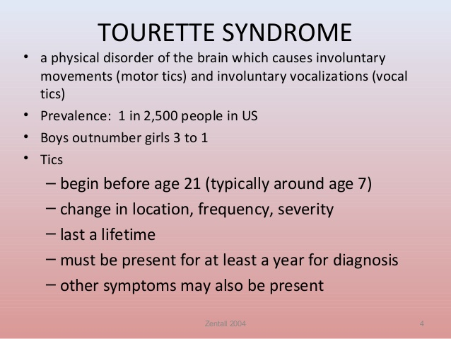 Tourette S Motor Speech Control Syndrome Nutrimedical